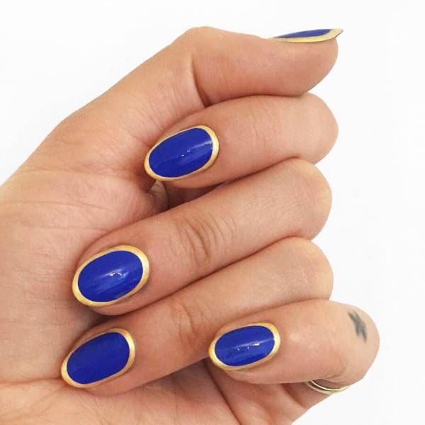 Blue Long Nails