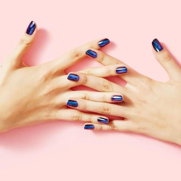 Blue Nails Designs On Short Nails