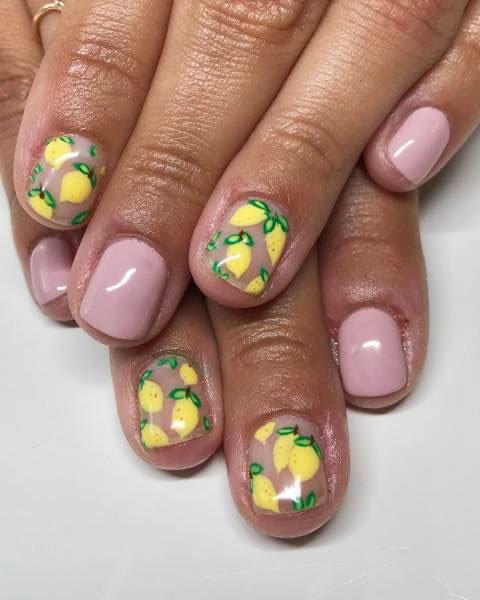 19 Amazing Ideas Of Lemon Nails Lemon Nail Art Images