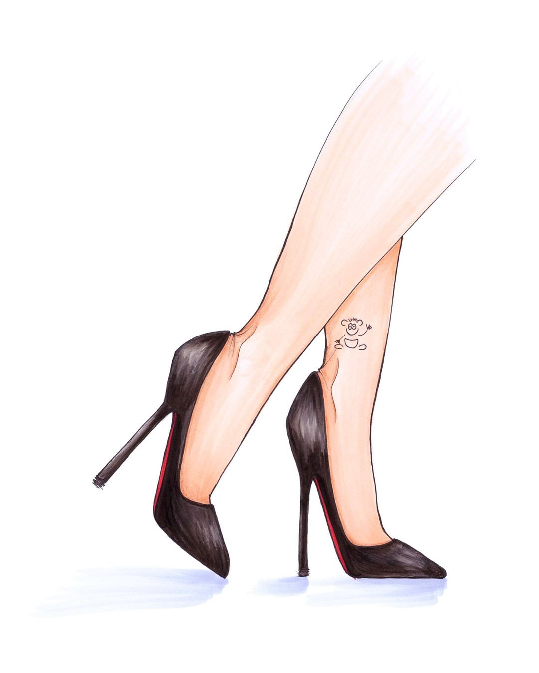 Cute Girly Ankle Tattoos - Ankle Tattoo