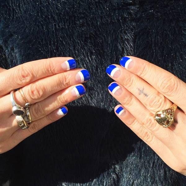 blue nail - Blue Long Nails