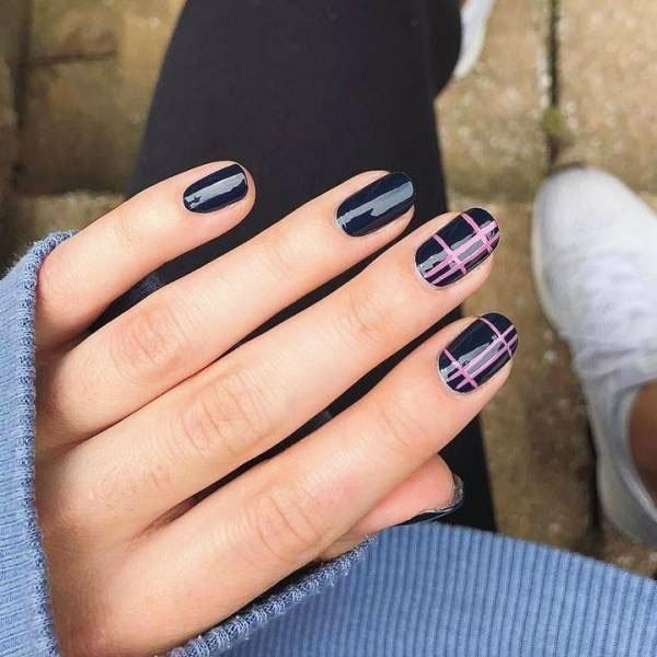 dark blue nails - Blue Long Nails