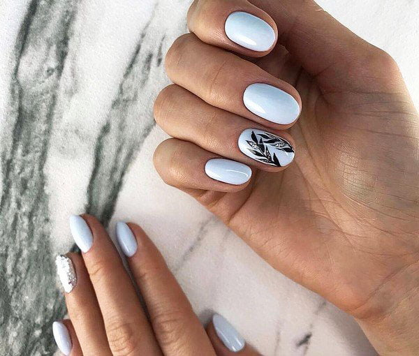 Stylish Nails With Smears, Gags, Abstract Patterns