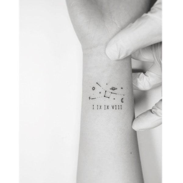 Constellations - 51 Unique Minimalist Tattoos Designs For Women