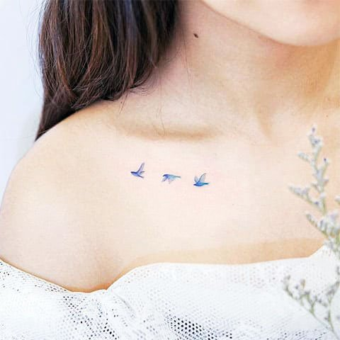 Butterflies, Bugs, Wasps, And Other Insects - Unique Minimalist Tattoos Designs For Women
