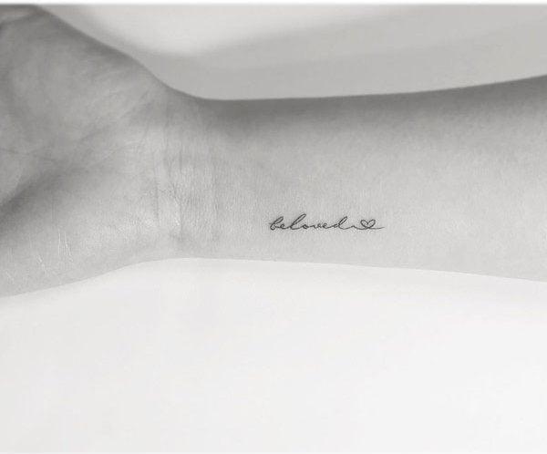 Beautiful inscriptions - 41 Unique Minimalist Tattoos Designs For Women
