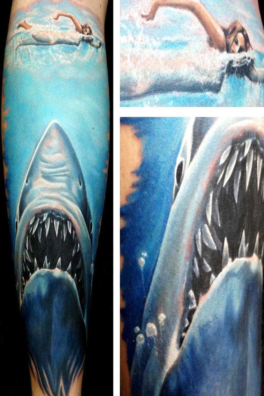 simple shark tattoo